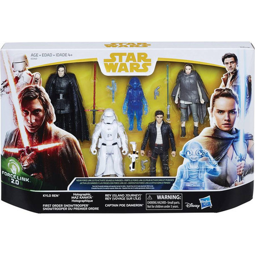 Star Wars Solo Force Link 2.0 Maz Kanata, Rey, Poe Dameron, Snowtrooper & Kylo Ren Action Figure 5-Pack