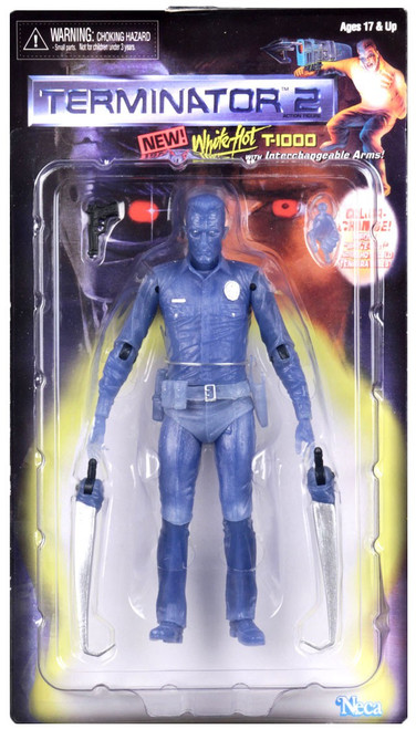 NECA Terminator 2 Judgment Day Kenner Tribute White Hot T-1000 Action Figure