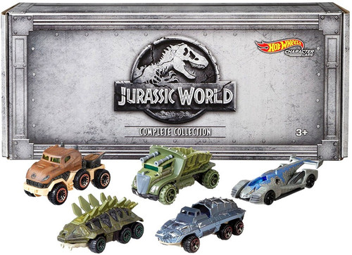 Jurassic World Hot Wheels Character Cars Die Cast Car 5-Pack