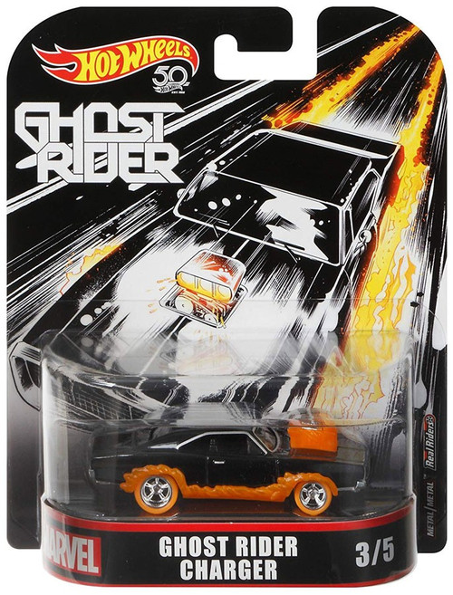 Hot Wheels Marvel Ghost Rider Charger Diecast Car