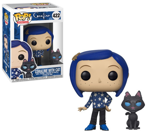 Funko POP! Animation Coraline with Cat Buddy Vinyl Figure #422