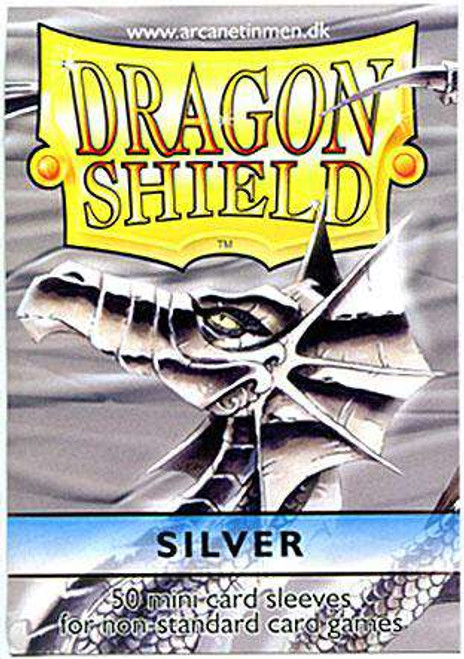 Card Supplies Dragon Shield Silver Small Card Sleeves [50 Count]