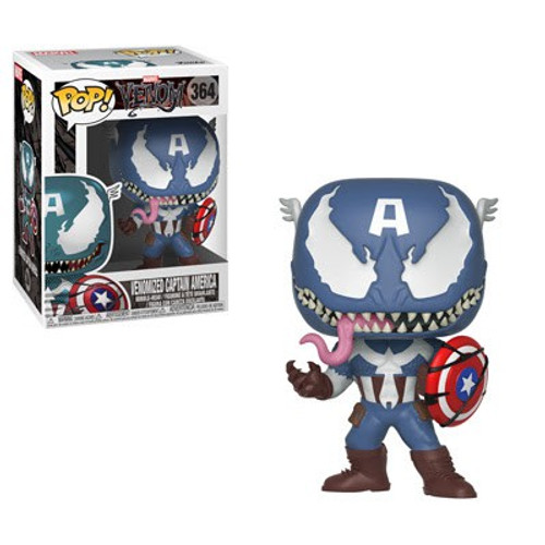 Funko POP! Marvel Venomized Captain America 3.75'' Vinyl Bobble Head #364