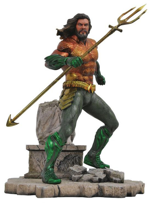 DC Gallery Aquaman 9-Inch Collectible PVC Statue [Movie Version]