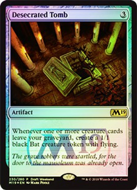 MtG 2019 Core Set Rare Desecrated Tomb #230 [Draft Weekend]