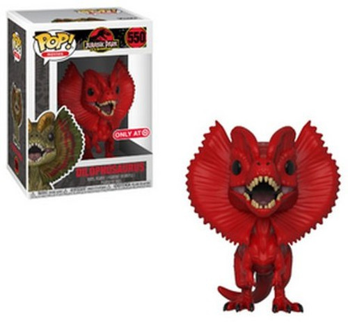 Funko Jurassic Park POP! Movies Dilophosaurus Exclusive Vinyl Figure #550 [Red]