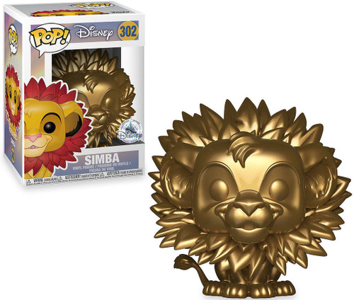 Funko The Lion King POP! Disney Simba Exclusive Vinyl Figure #302 [Gold, Leaf Mane]