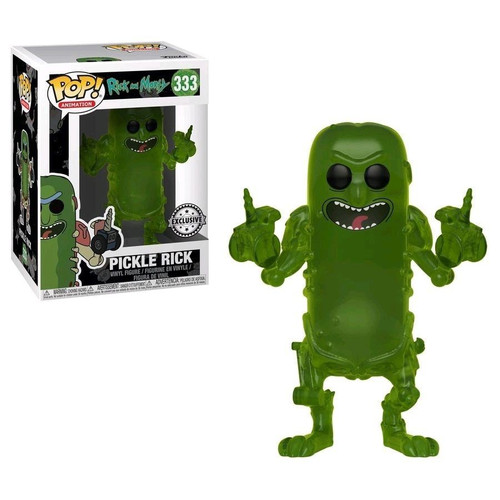 Funko Rick & Morty POP! Animation Pickle Rick Exclusive Vinyl Figure #333 [Transparent, Damaged Package]