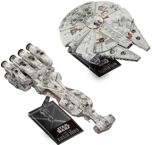 Star Wars Solo Blockade Runner & Millennium Falcon 1/1000 & 1/350 Plastic Model Kit