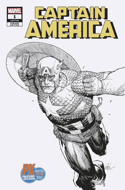 Marvel Comics Captain America #1 Exclusive Limted to 4000 Comic Book [Previews Exclusive SDCC 2018]