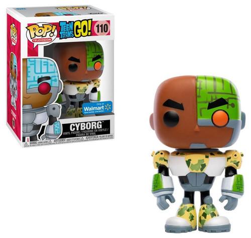 Funko Teen Titans Go! POP! TV Cyborg Exclusive Vinyl Figure #110 [Camo, Damaged Package]