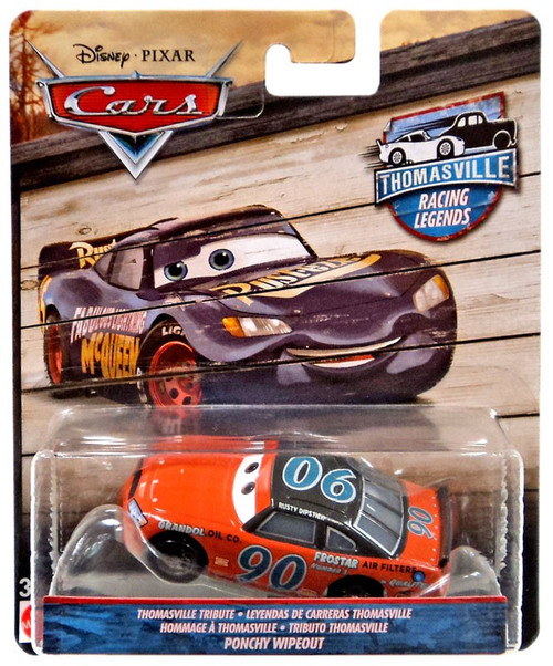 Disney / Pixar Cars Cars 3 Thomasville Racing Legends Ponchy Wipeout Diecast Car [Thomasville Tribute]