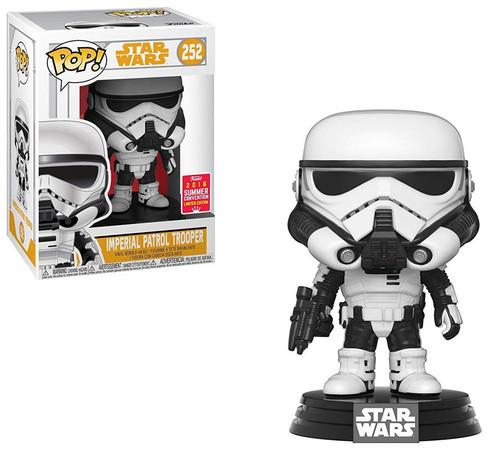 Funko Solo POP! Star Wars Imperial Patrol Trooper Exclusive Vinyl Bobble Head #252