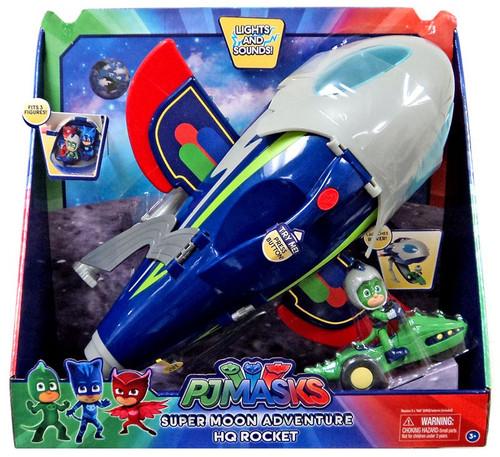 Disney Junior PJ Masks Super Moon Adventure HQ Rocket Playset [Gekko, Space Rover & Rocketship]