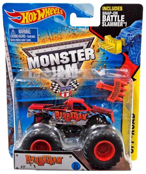 Hot Wheels Monster Jam Barbarian Die-Cast Car [Battle Slammer]