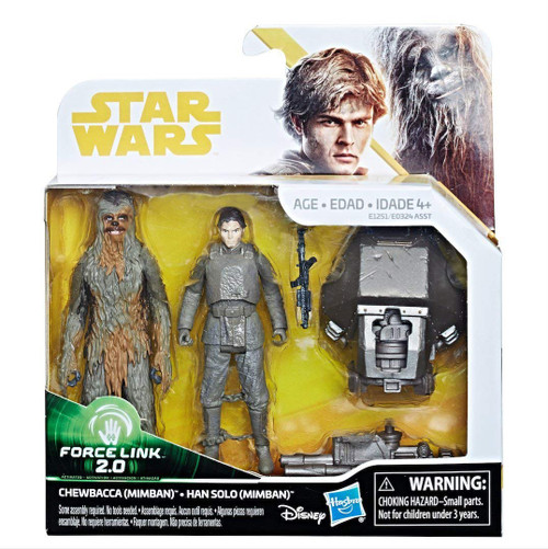Star Wars Force Link 2.0 Han Solo & Chewbacca Mimban Action Figure 2-Pack