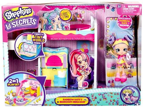 Shopkins Shoppies Lil' Secrets Rainbow Kate's Bedroom Hideaway Playset