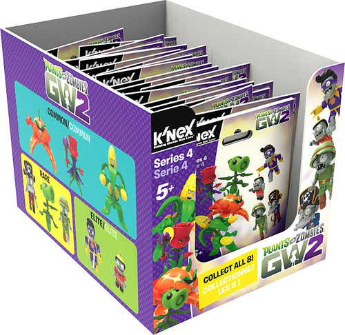 K'NEX Plants vs. Zombies GW2 Series 4 Mystery Box [24 Packs]