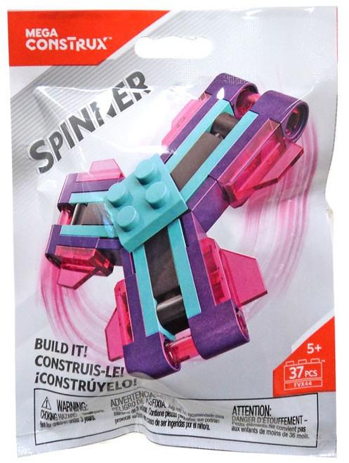 Mega Construx Spinner Purple, Pink & Teal