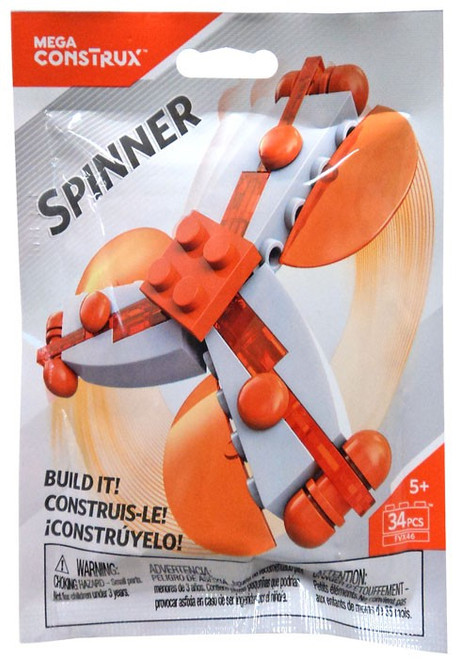 Mega Construx Spinner White & Orange