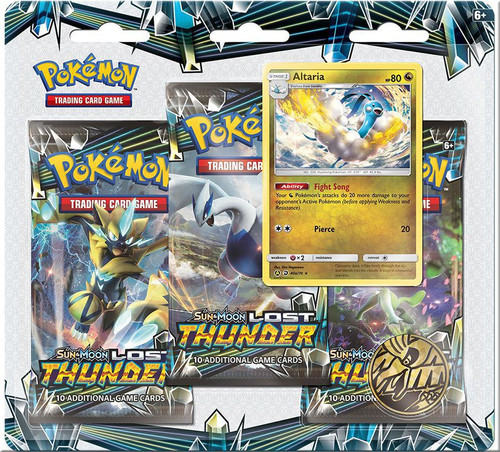 Pokemon Trading Card Game Sun & Moon Lost Thunder Altaria Special Edition [3 Booster Packs, Promo Card & Coin]