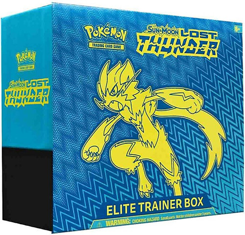 Pokemon Trading Card Game Sun & Moon Lost Thunder Zeraora Elite Trainer Box [8 Booster Packs, 65 Card Sleeves, 45 Energy Cards & More!]