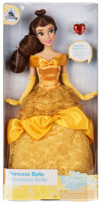 Disney Princess Beauty and the Beast Classic Princess Belle Exclusive 11.5-Inch Doll [with Ring]