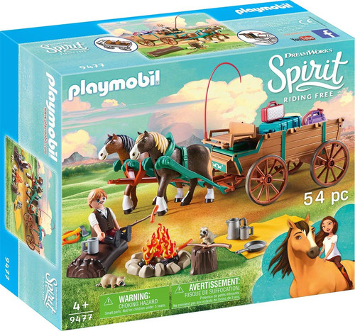 Playmobil Spirit Riding Free Lucky's Dad and Wagon Set #9477