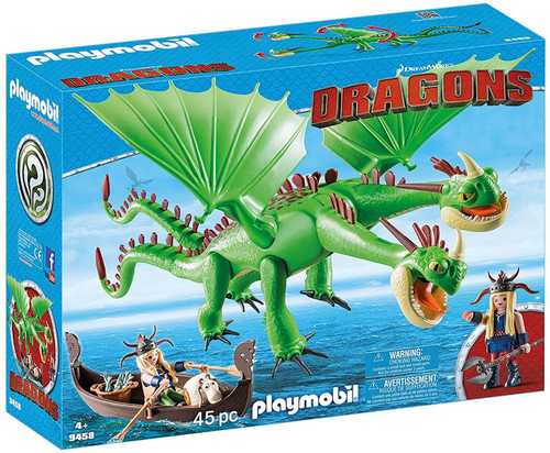 Playmobil Dragons How to Train Your Dragon Ruffnut & Tuffnut with Barf & Belch Set #9458