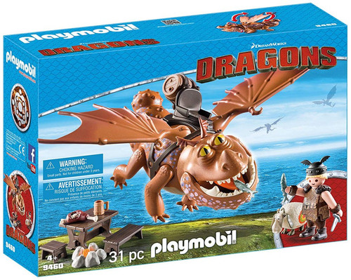 Playmobil Dragons How to Train Your Dragon Fishlegs and Meatlug Set #9460