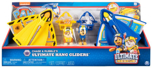 Paw Patrol Ultimate Rescue Chase & Rubble's Ultimate Hang Gliders Exclusive Figure Set