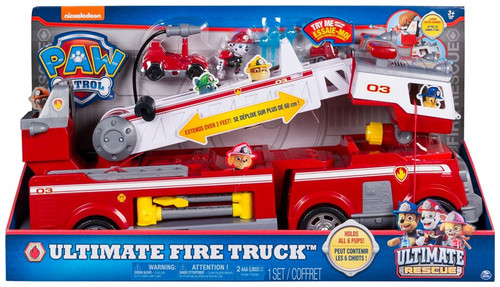 Paw Patrol Ultimate Rescue Ultimate Fire Truck Vehicle