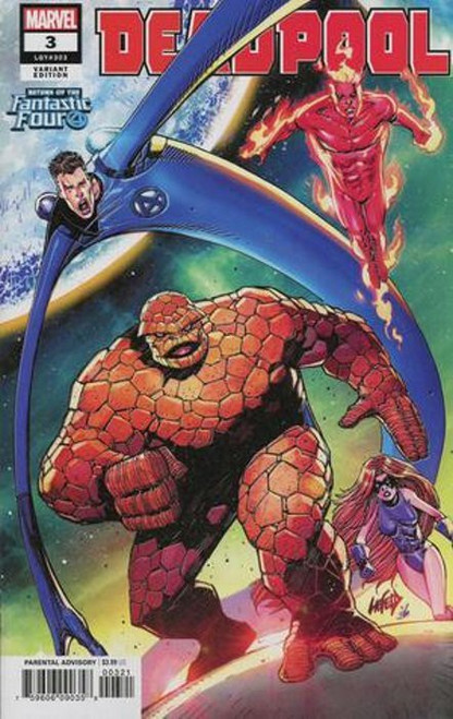 Marvel Comics Deadpool #3 Comic Book [Liefeld Return of Fantastic four Variant Cover]