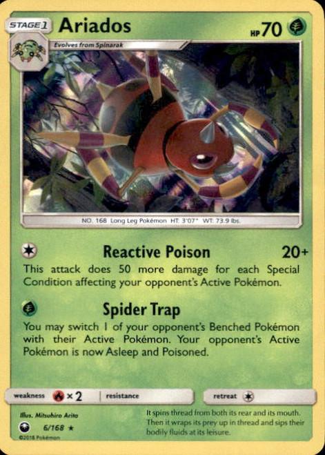 Pokemon Trading Card Game Celestial Storm Rare Holo Ariados #6