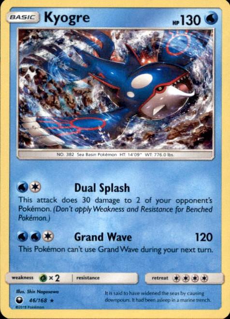 Pokemon Trading Card Game Celestial Storm Rare Holo Kyogre #46