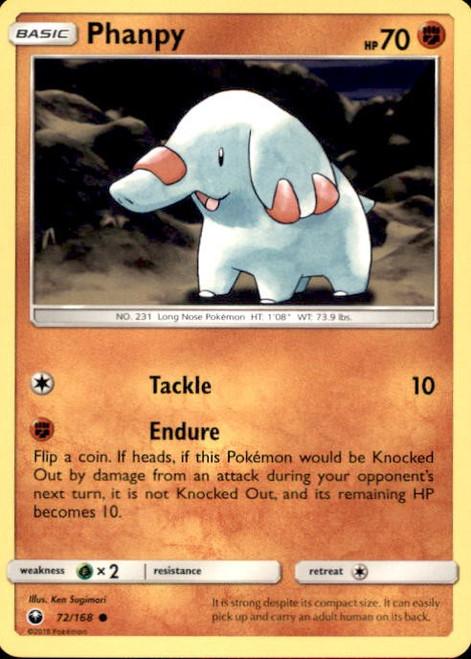 Pokemon Trading Card Game Celestial Storm Common Phanpy #72