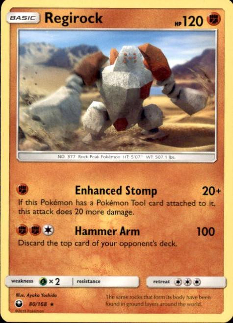 Pokemon Trading Card Game Celestial Storm Rare Regirock #80