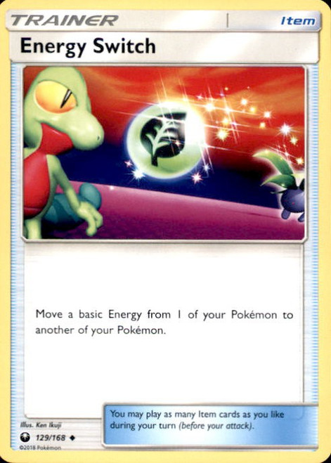 Pokemon Trading Card Game Celestial Storm Uncommon Energy Switch #129