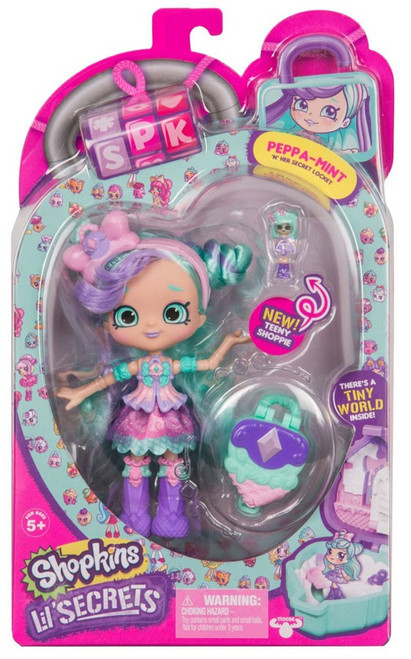 Shopkins Shoppies Lil' Secrets Peppa-Mint Doll Figure