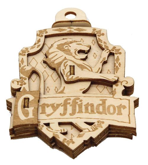 Harry Potter Incredibuilds Emblematics Griffindor Wooden Puzzle Sculpture