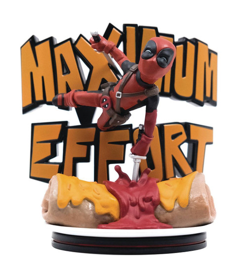 Marvel Q-Fig Deadpool Maximum Effort 4-Inch Diorama Figure