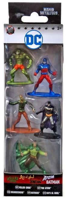 DC Nano Metalfigs Killer Croc, Scarecrow, Batman, The Atom & Ra's Al Ghul 1.5-Inch Diecast Figure 5-Pack