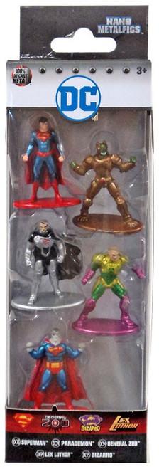 DC Nano Metalfigs Superman, Parademon, Lex Luthor, Bizarro & General Zod 1.5-Inch Diecast Figure 5-Pack