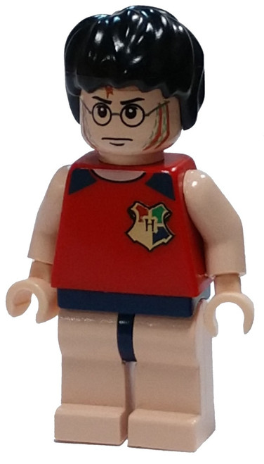LEGO Harry Potter in Sleeveless Red Shirt Minifigure [With Gills Loose]