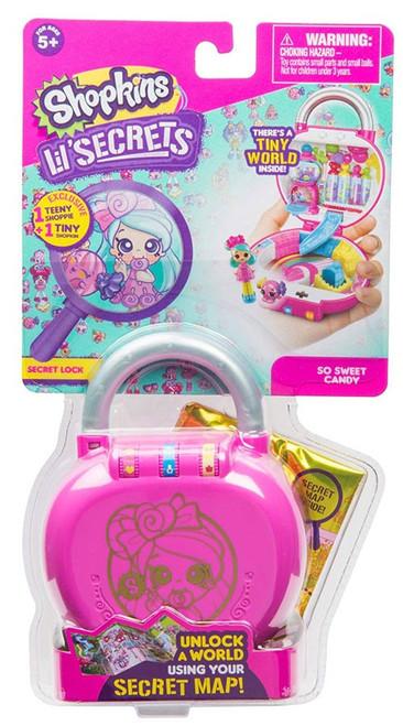 Shopkins Lil' Secrets Series 1 So Sweet Candy Mini Playset [Secret Lock]