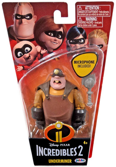 Disney / Pixar Incredibles 2 Super Poseable Series 2 Underminer Basic Action Figure