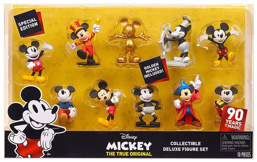 Disney Mickey the True Original 90 Years of Magic Mickey Mouse 3-Inch Figure 10-Pack