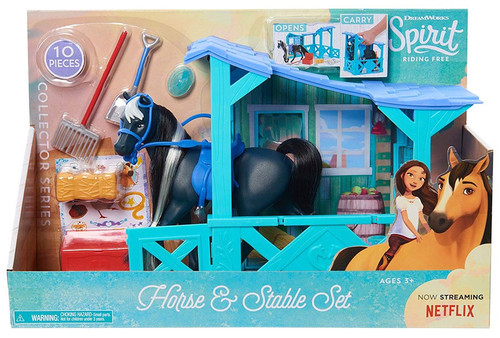 Spirit Riding Free Collector Series Horse & Stable 7-Inch Playset