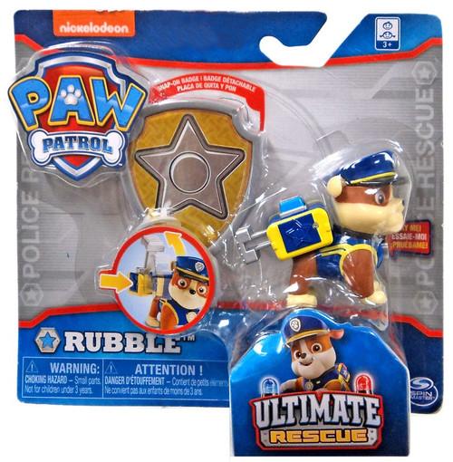 Paw Patrol Ultimate Rescue Rubble Exclusive Figure [Badge]
