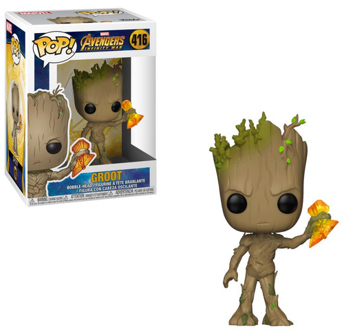 Funko Avengers Infinity War POP! Marvel Groot Vinyl Bobble Head #416 [with Stormbreaker]
